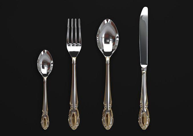 cutlery set wellberg almaz 3d model max obj mtl fbx 1