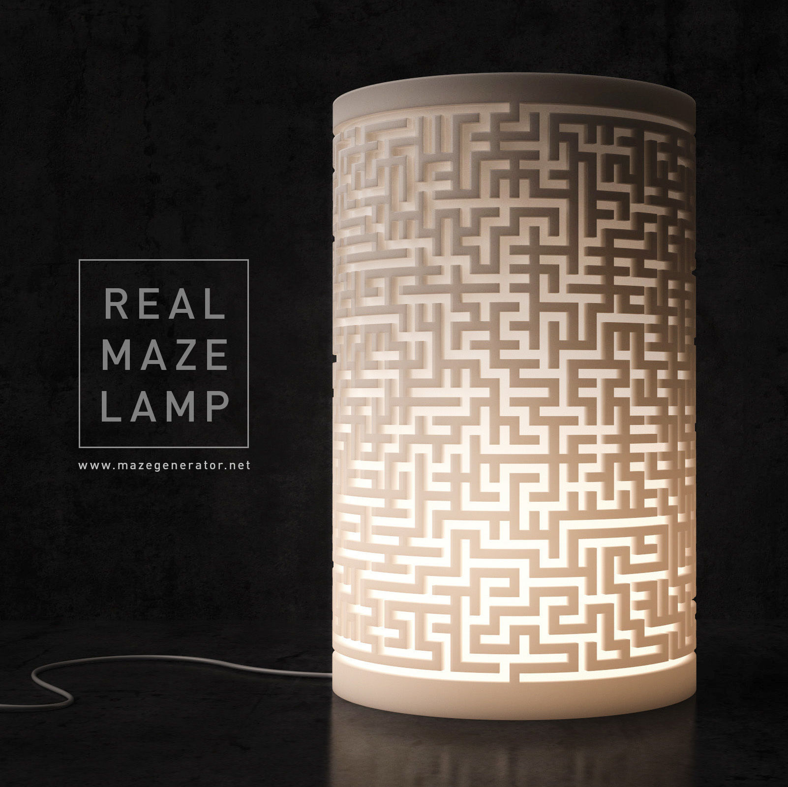 Generative design Real maze lamp