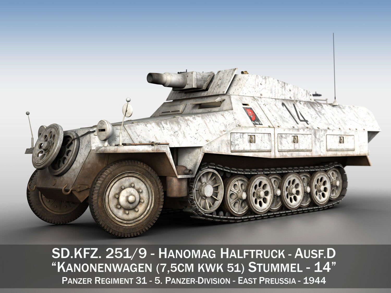 3d Model Sdkfz 251 Ausf D Stummel 14 Cgtrader