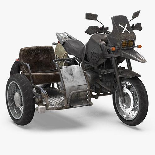 pubg motorcycle 3d model max obj mtl 3ds fbx ma mb tga 1