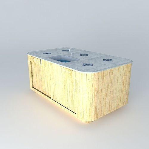 KItchen Island Free Standing 3D Model