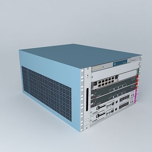 cisco 7606s router 3d cgtrader