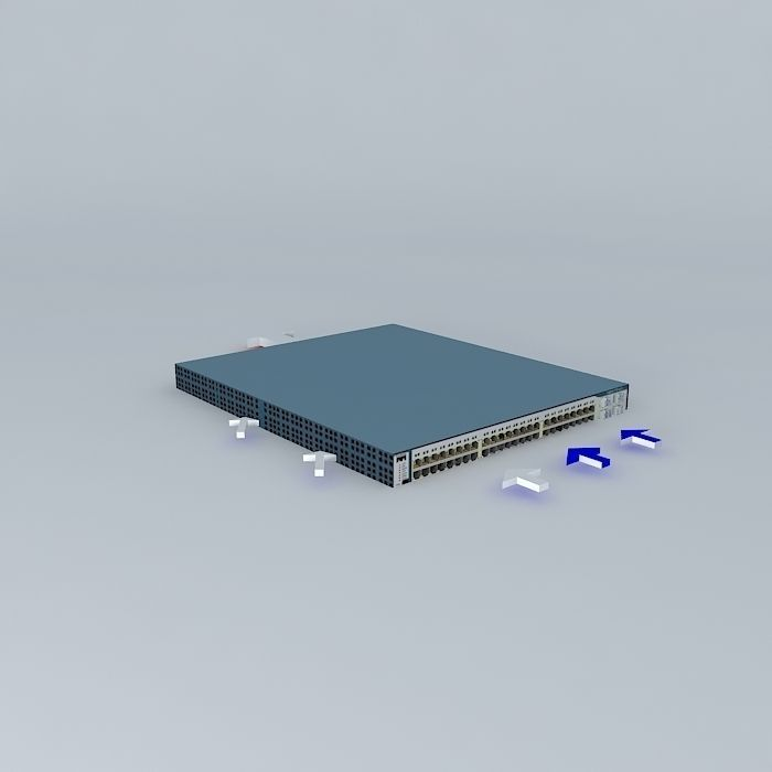 Cisco Catalyst 3750G showing air flow