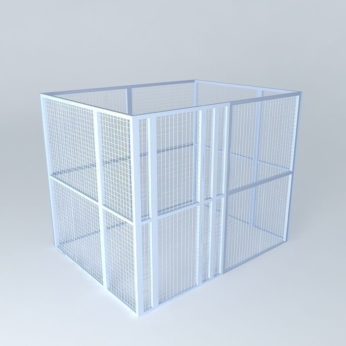 Wire Mesh Cage for Data Center Colocation 3D model MAX OBJ 3DS FBX ...