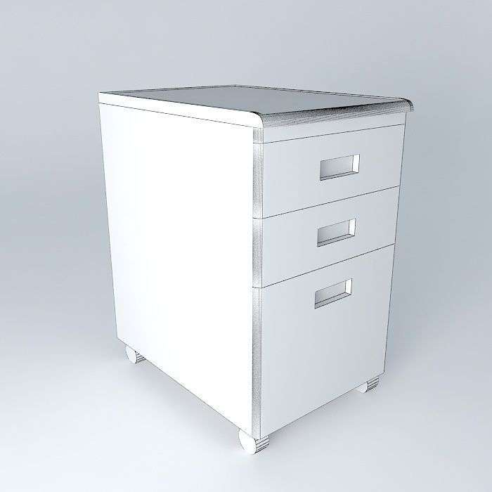 Perfect ... Under Desk File Cabinet 3d Model Max Obj 3ds Fbx Stl Dae 4 ...