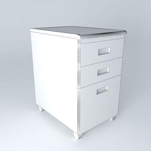 under desk file cabinet 3d model max obj 3ds fbx stl dae. Black Bedroom Furniture Sets. Home Design Ideas