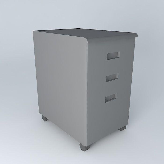 Under Desk File Cabinet 3D Model MAX OBJ 3DS FBX STL DAE