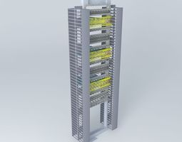 3D Cisco 4948 Rack layout for 144 ports