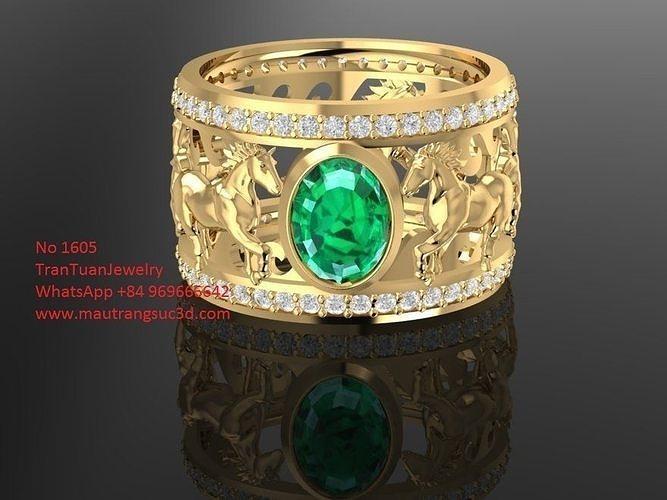1605 horse ring for men 3d model stl 3dm 1