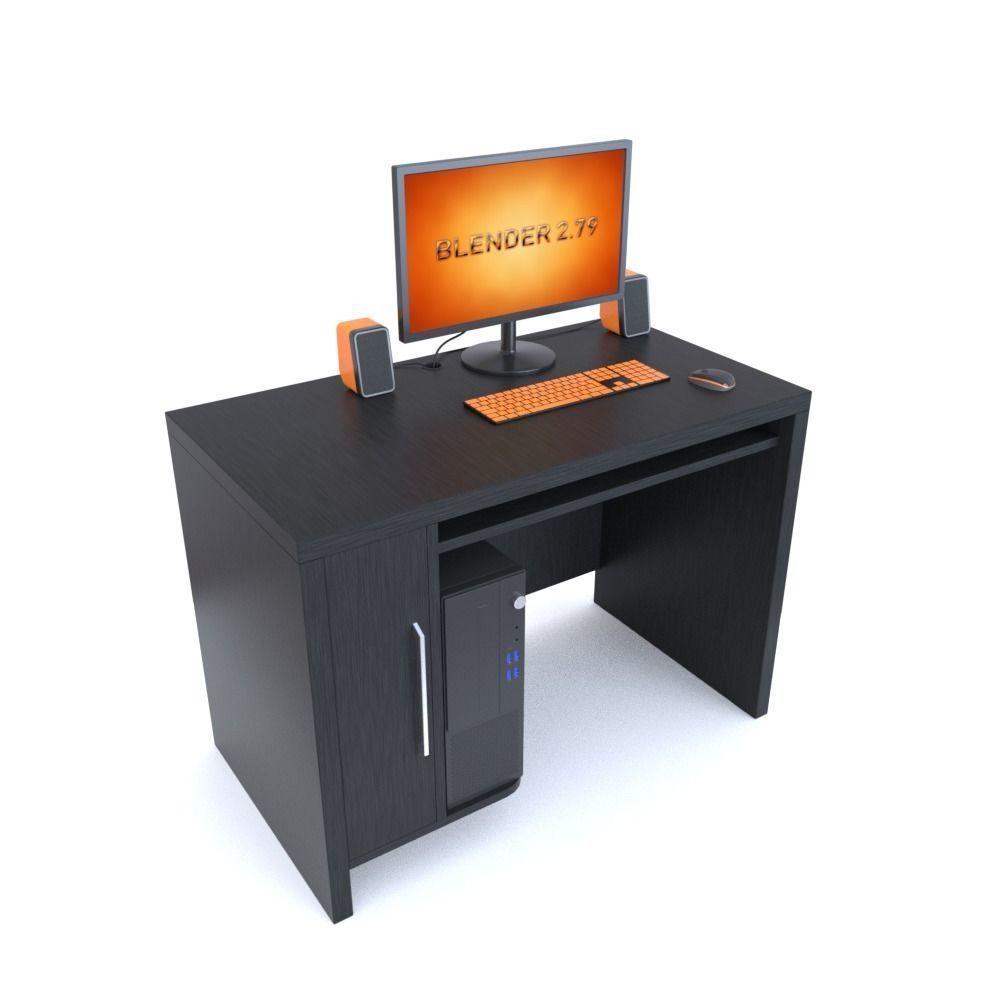 Computer table Wenge  10D model