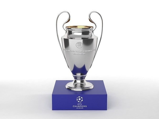 champions league trophy 3d model max obj mtl fbx 1