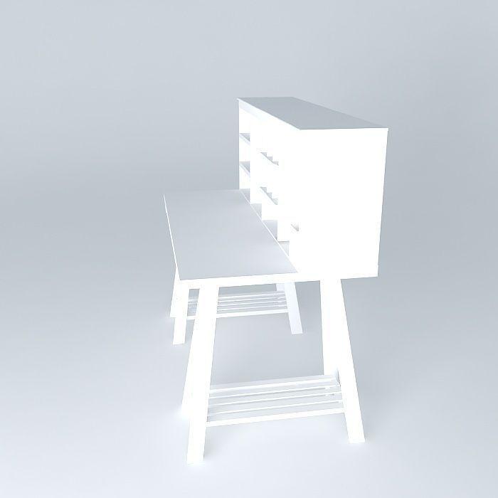 Campus White Child Desk Houses The World 3d Model Max Obj 3ds Fbx Stl Dae 3
