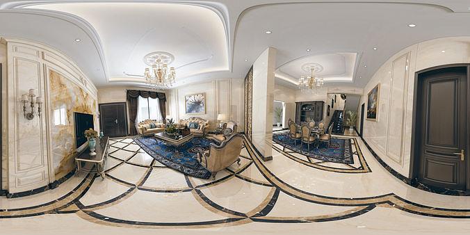 royal classic interior livingroom 3d model max obj mtl fbx 1