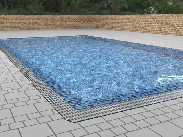 pool swimming or decoration low poly 3d model max obj mtl 3ds fbx dxf dae 1