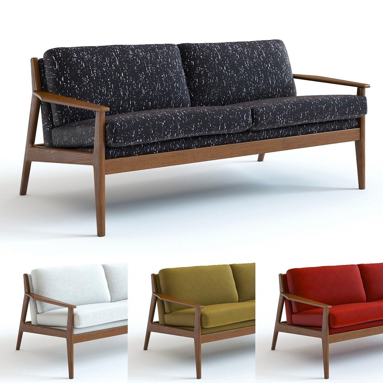 Amazing West Elm Mathias Loveseat 3D Model Machost Co Dining Chair Design Ideas Machostcouk