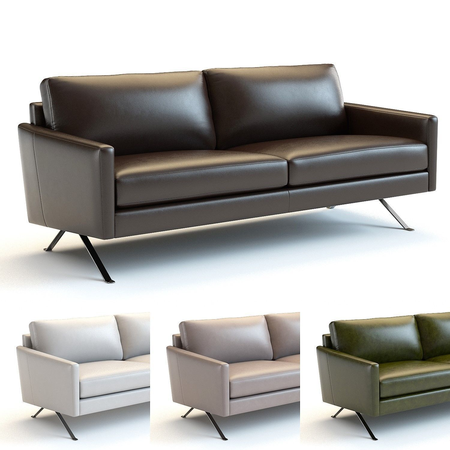 Terrific West Elm Angled Arm Leather Sofa 3D Model Unemploymentrelief Wooden Chair Designs For Living Room Unemploymentrelieforg