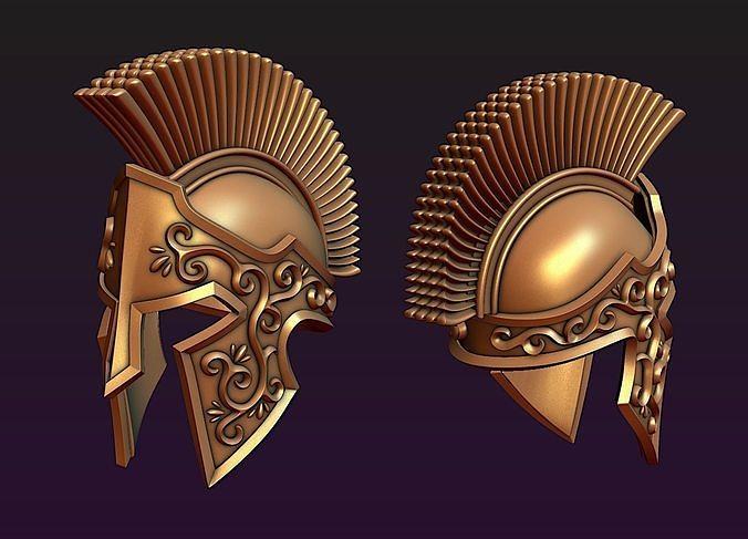 spartan helmet 3d model obj mtl fbx stl blend 1
