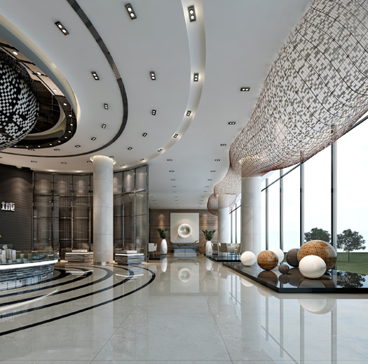 Luxury Hotel Lobby 3d Model Max Cgtrader Com