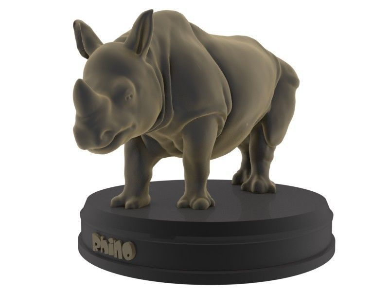 image relating to Rhino Printable identified as Rhino Printable 3D Print Fashion