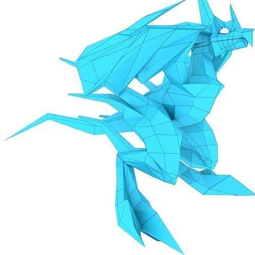bird dragon medium 3d model obj mtl 3ds fbx stl blend dae 1