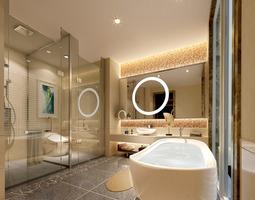 Luxurious bath room 3D model