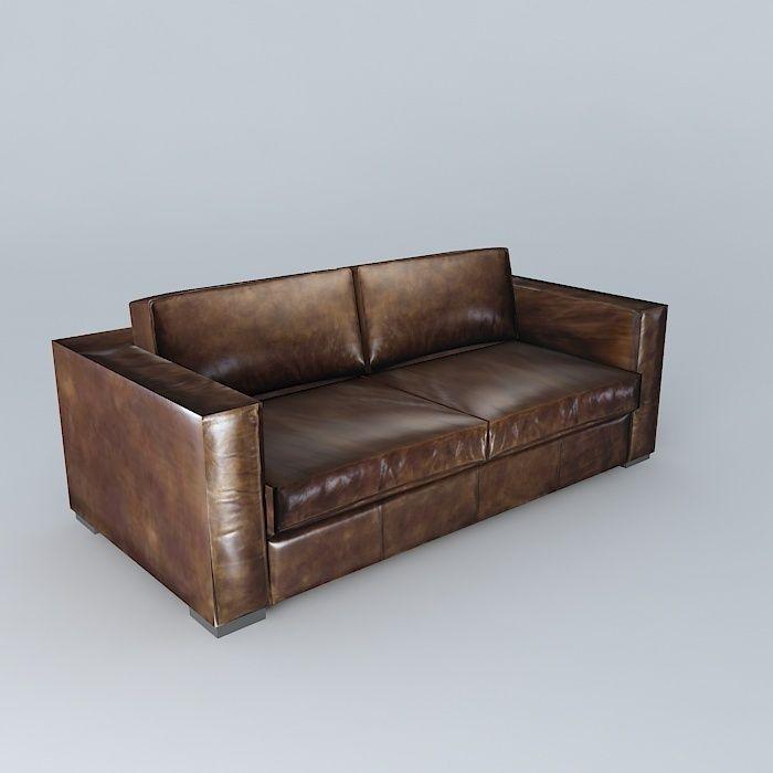 Peachy Berlin Aged Brown Leather Sofa 3D Model Short Links Chair Design For Home Short Linksinfo