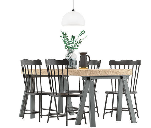 dining furnitures set 35 3d model max obj mtl 3ds fbx 1