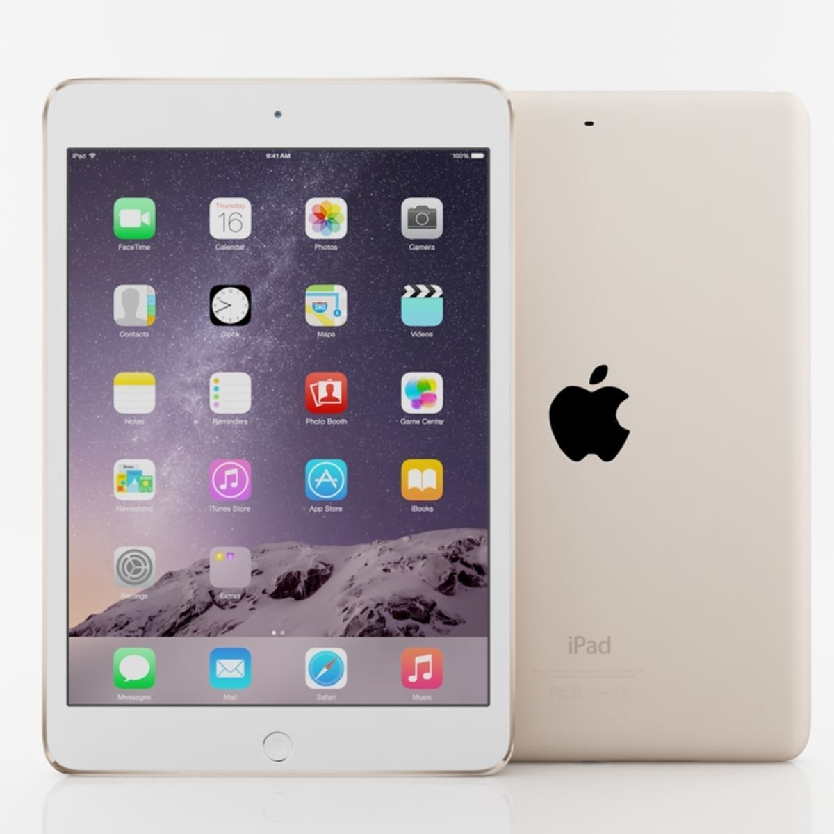 Apple iPad mini 3 Gold 3D model | CGTrader