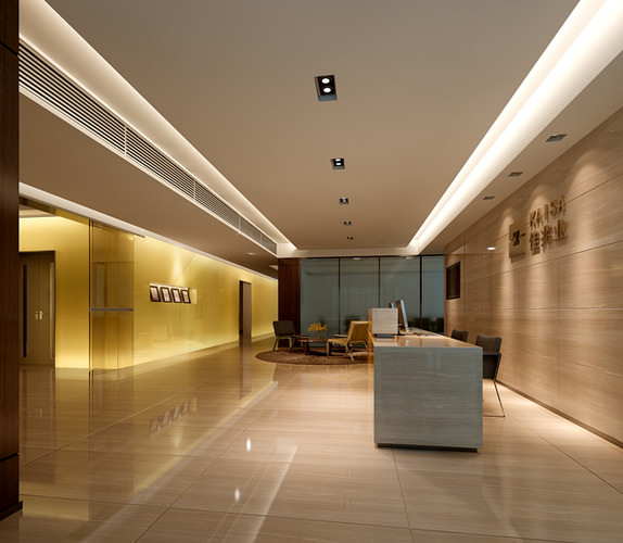 Modern hotel lobby 3D Model x CGTrader