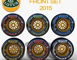 3D asset E23 Front tyre set