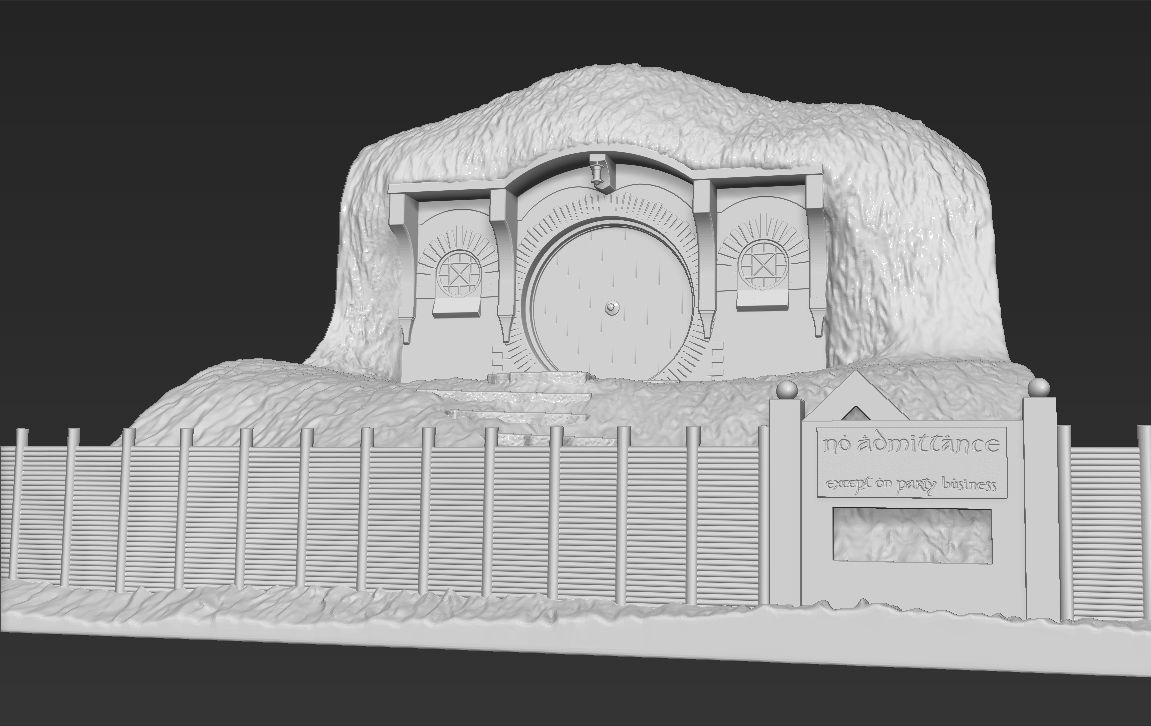 Bag End Shire Lord of the Rings 3D printing ready stl obj