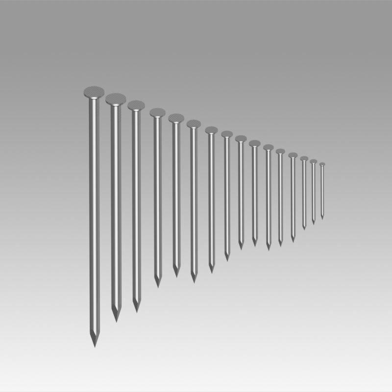 Round nails DIN 1151