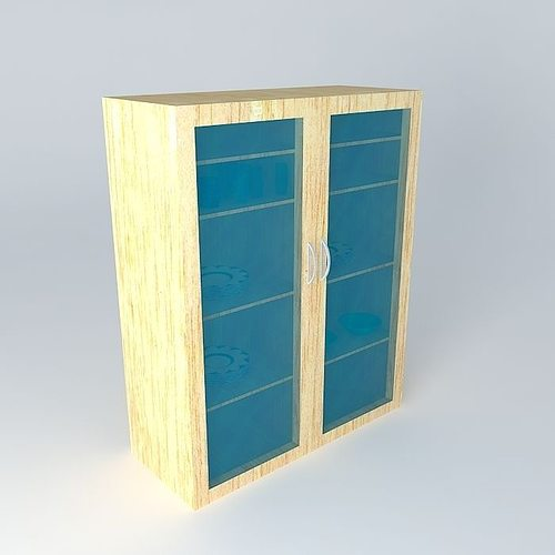 Glass Face Dish Cabinet 3d Model Cgtrader