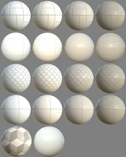 PBR Bathroom Tiles Material Collection