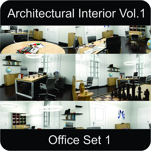 office architectural interior vol 1 3d model low-poly max obj mtl 3ds fbx gsm 1