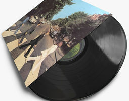 Vintage Vinyl Records 3D Model