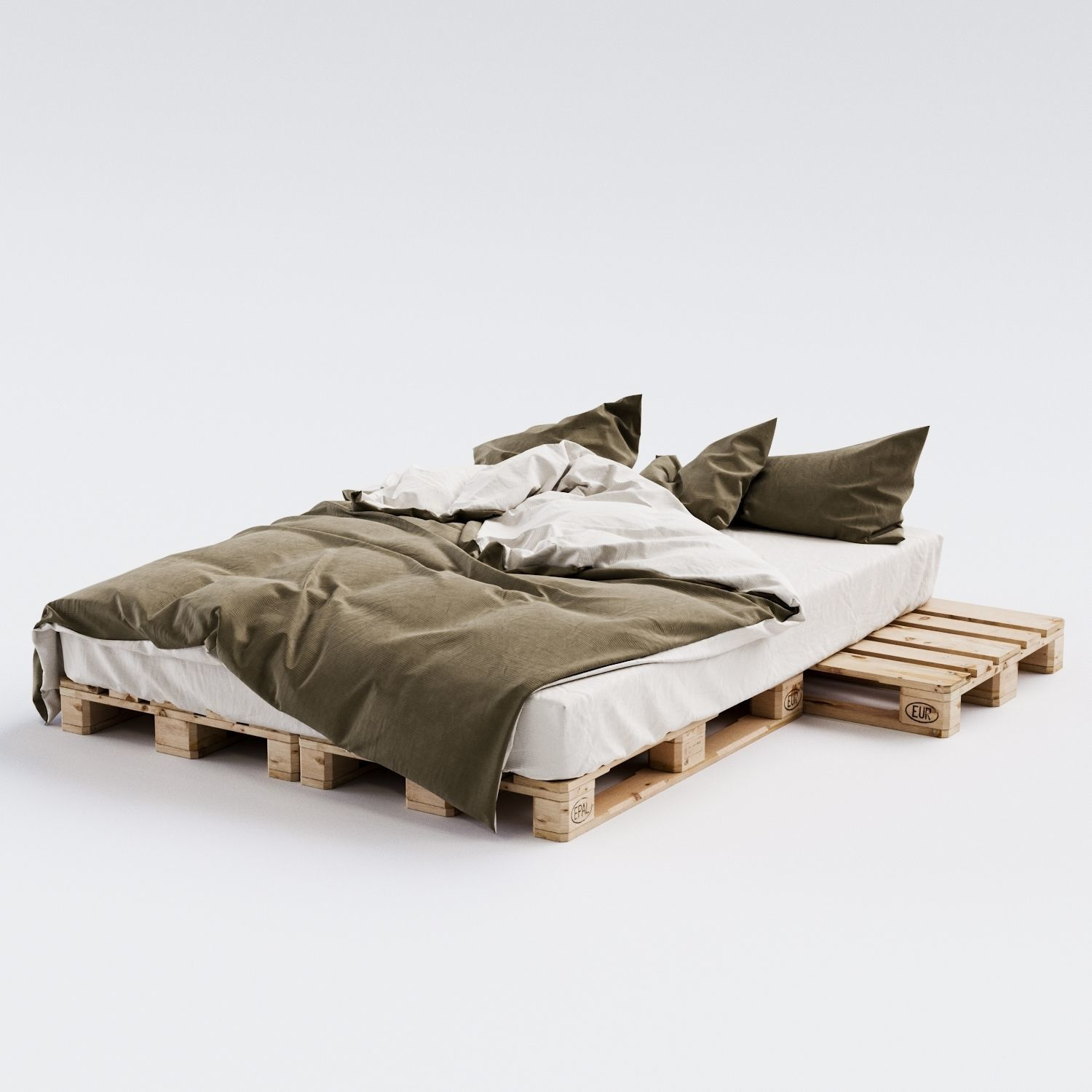 Euro Pallet Bed 3d Cgtrader
