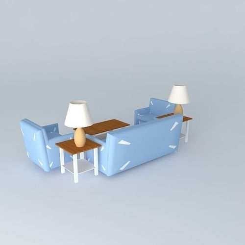 Living room furniture 3d model max obj 3ds fbx stl for New model living room furniture