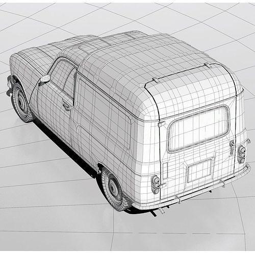 3d Model Renault R4 Fourgonette Van