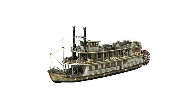 steamboat 3d model obj fbx ma mb 1