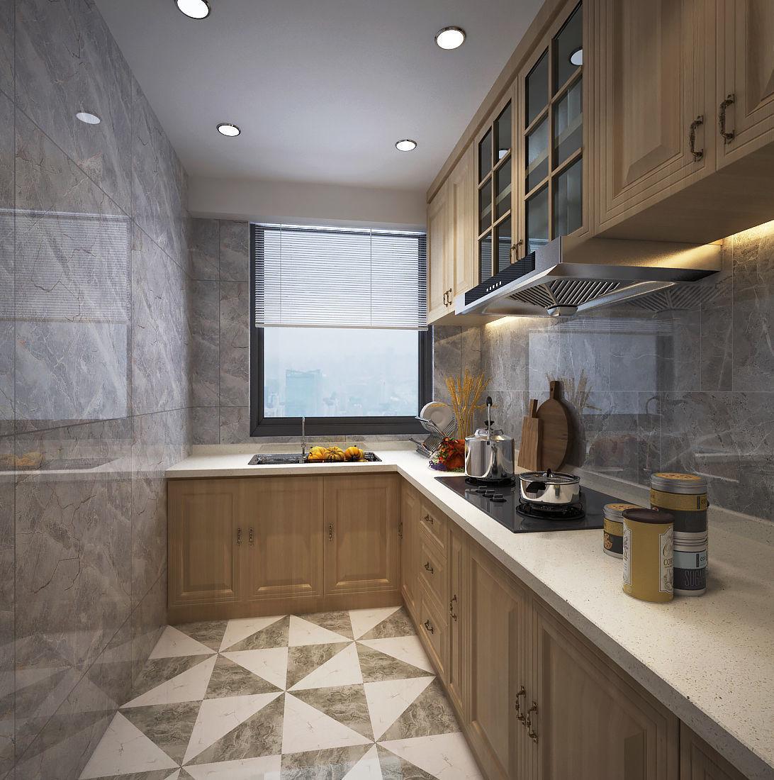 Modern kitchen design 3d model