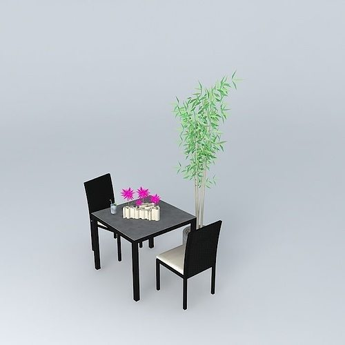 3d garden furniture miami maisons du monde cgtrader. Black Bedroom Furniture Sets. Home Design Ideas