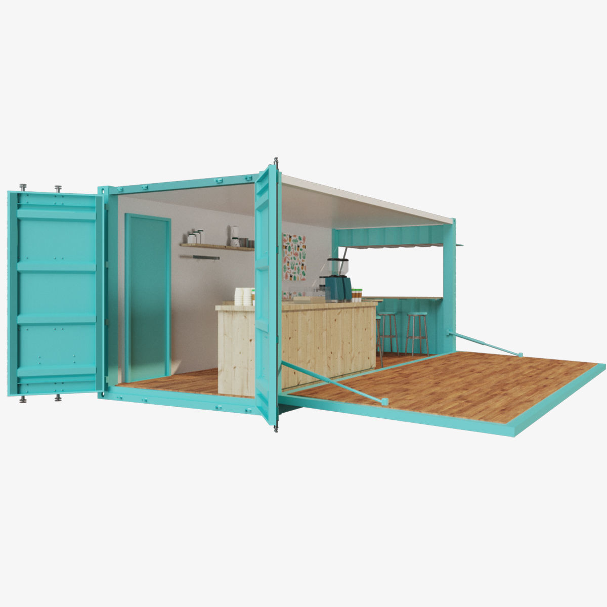 V2 Mobile shipping container restaurant Container Cafe