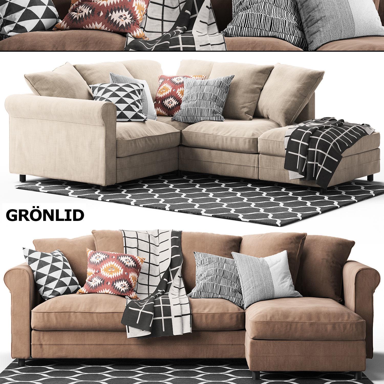 2 corner sofas GRONLID Ikea ikea 3D | CGTrader