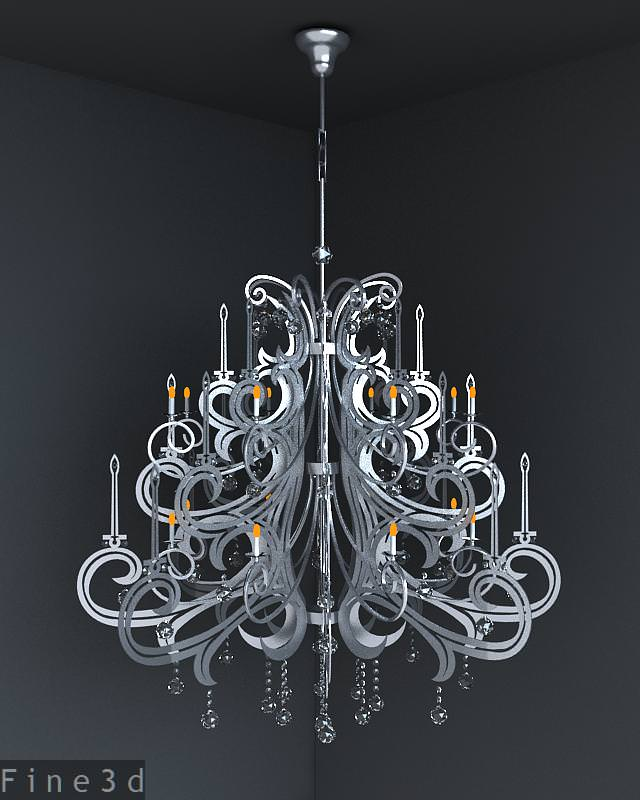 3D Christmas tree - like chandelier | CGTrader