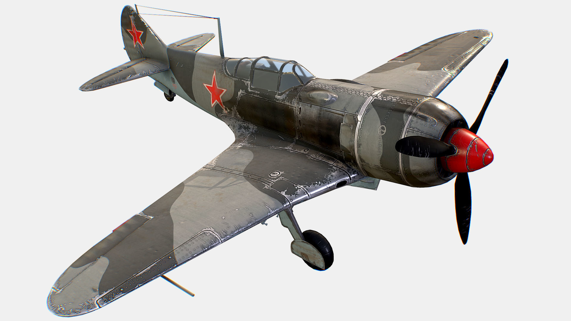 Russian Soviet fighter aircraft Lavochkin La-7