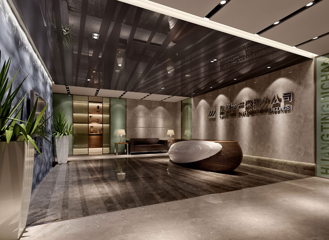Hotel Reception Space 3d Model Max Cgtrader Com