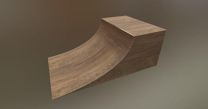 Skateboarding skatepark skate HalfPipe PBR Wooden