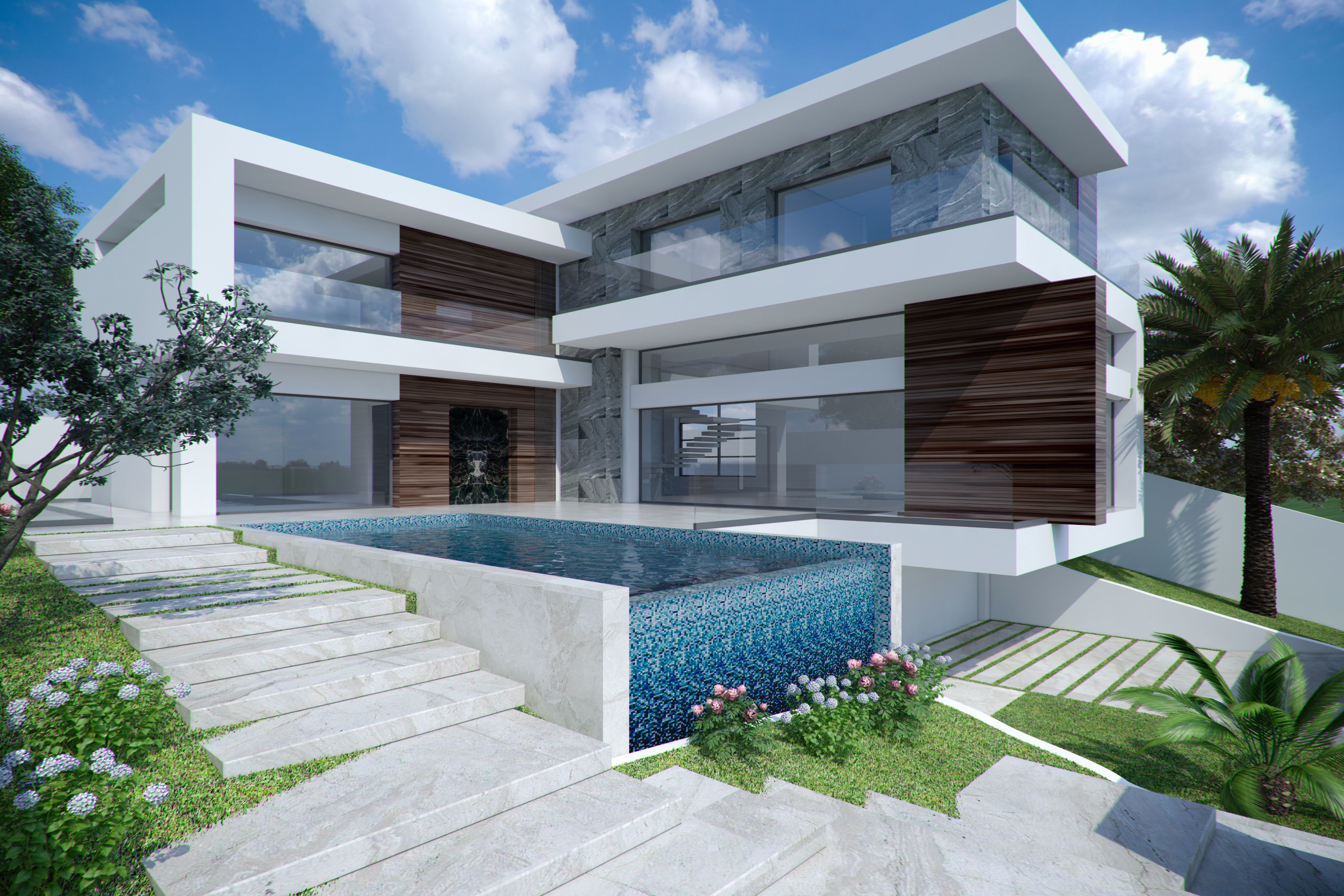 Modern Minimalist House Exterior 3D model | CGTrader