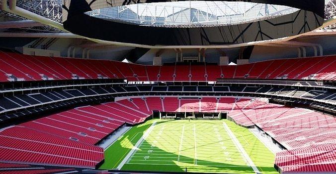 Atlanta Falcons Stadium Football Stadium 3D Effect Brake Wall Effect 3D